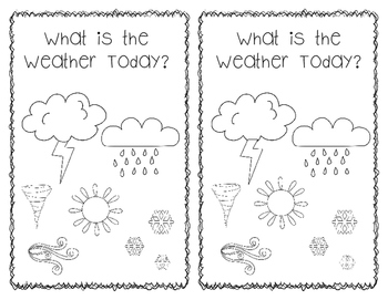Booklet:  What is the Weather Today?