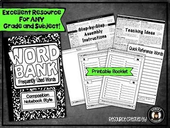 Word Bank - Printable Booklet