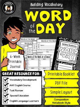 Word of the Day - Printable Booklet