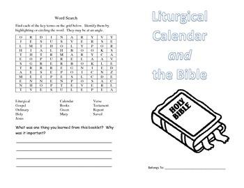 Booklet for Liturgical Calendar and Bible Basics