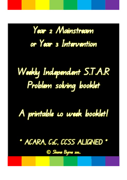 ACARA, Year 2 or 3, STAR Problem Solving Booklet of 40 Weeks