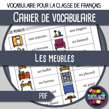 Booklet To Teach Vocabulary In French Ffl Fsl Meubles Furniture By