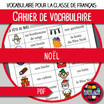 Booklet to teach vocabulary in French/FFL/FSL: Noël/Christimas