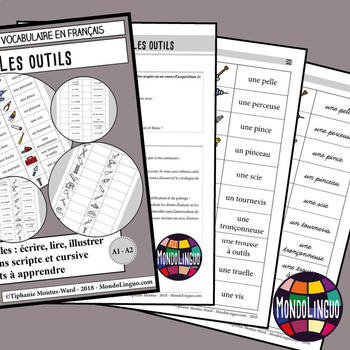 Booklet to teach vocabulary in French/FFL/FSL: Outils/Tools