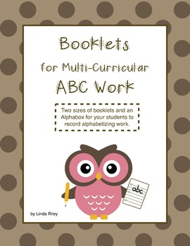 Booklets for Multi-Curricular ABC Work
