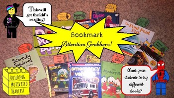 Bookmark Attention Grabbers (Building Block Character theme)
