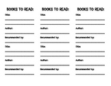 Bookmark--Books to Read