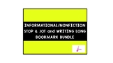 Informational Stop and Jot/Writing Long Bookmark Card (Gre