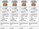 Bookmark Checklists for Strategies and Self Assessment