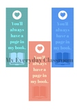 Bookmark Favors - End of the Year Gift