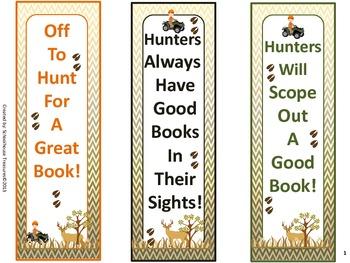 Bookmark Freebie - Hunting Theme