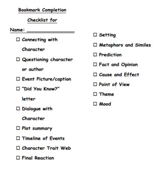 Bookmark Journals: Practicing Skills While Responding to Literature