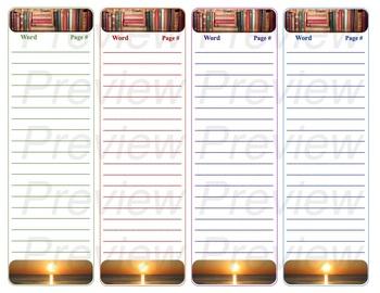 Bookmark- New Words