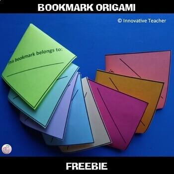 Bookmark Origami FREEBIE