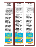 Bookmark Pacing Guide: The BFG by Roald Dahl