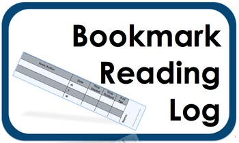 Bookmark Reading Log