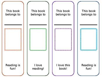 Free Bookmark Set 1: Photo Frames 1