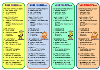 Bookmark - Strategies of Good Readers - For Book Clubs and Independent Reading