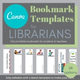 Bookmark TEMPLATES for CANVA [fully editable]