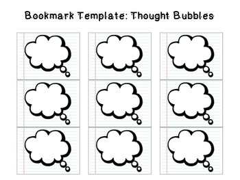 picture relating to Printable Thought Bubble known as Consideration Bubble Template Worksheets Training Materials TpT