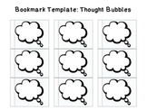 Bookmark Template: Thought Bubbles