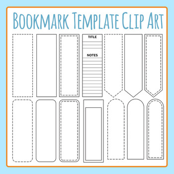 Bookmark Templates Clip Art Set for Commercial Use