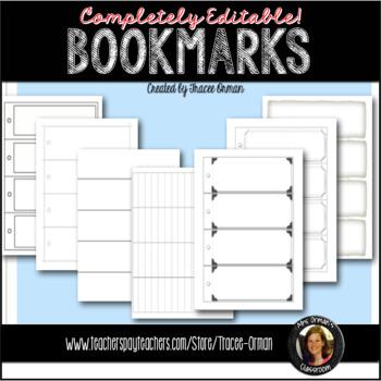 bookmark templates editable powerpoint printables reading