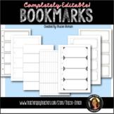 Bookmark Templates Editable PowerPoint Printables Reading