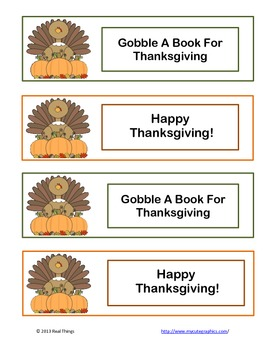 Thanksgiving Bookmark