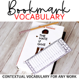 Bookmark Vocabulary: Student-Led Contextual Vocabulary Lea