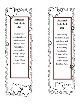 Bookmark for Books in a Bag