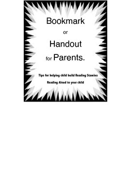 Bookmark for Parents