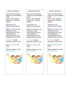 Bookmark of Reading Strategies