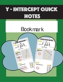 Bookmark y-intercept quick notes graph linear word problem equation Table
