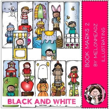 Melonheadz: Bookmarks Part 2 - Boys - BLACK AND WHITE