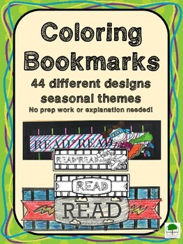 Bookmarks - 44 Different Designs to Color and Customize