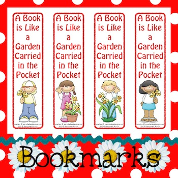 Bookmarks: A Book is Like a Garden 1