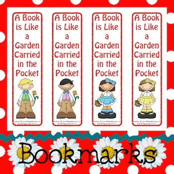 Bookmarks: A Book is Like a Garden 2