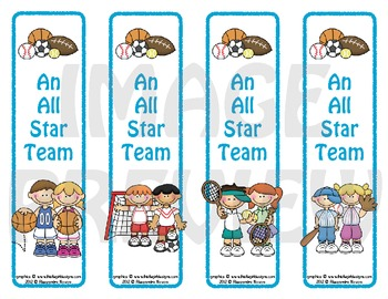 Bookmarks: An All Star Team 4