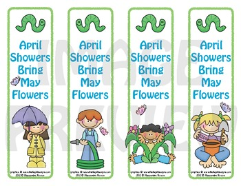 Bookmarks: April Showers Bring May Flowers 1