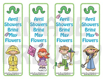 Bookmarks: April Showers Bring May Flowers 2
