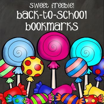 Bookmarks - Back-to-School Sweet Freebie