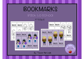 Bookmarks Back to school