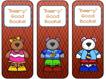 Bookmarks-Bears in Fall Colors