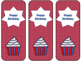 Bookmarks-Birthday Patriotic