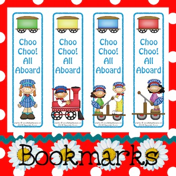 Bookmarks: Choo Choo! All Aboard 2