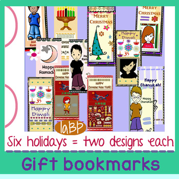 Gift Bookmarks: Kwanzaa, Diwali, Ramadan, Chinese New Year, winter holidays