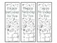Bookmarks- Color Your Own-Birthday