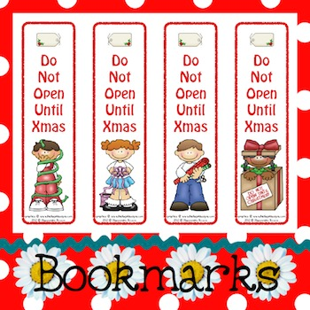 Bookmarks: Do Not Open Until Xmas