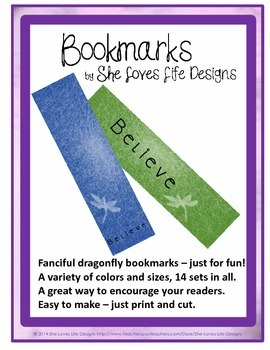 Bookmarks Dragonfly Fun